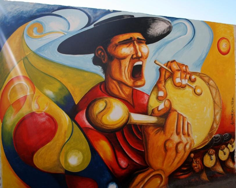 Un graffiti de las calles de Cafayate. Foto: Sara Gordón
