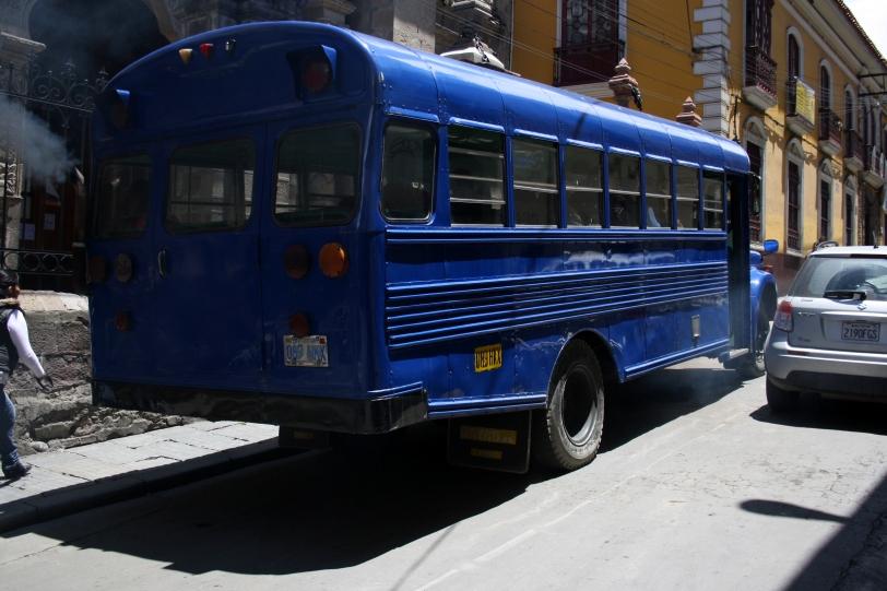 Autobús en La Paz. Foto: Sara Gordón