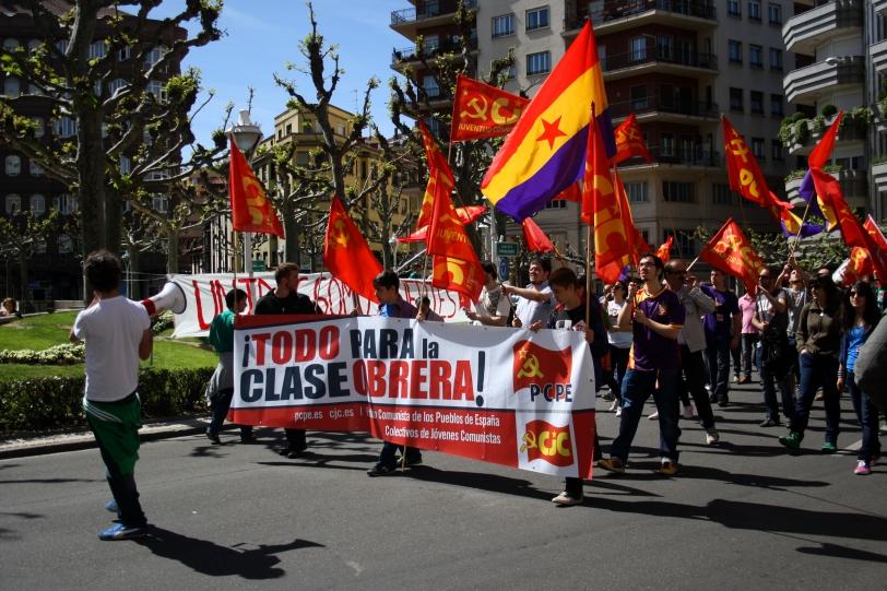 Manifestación del 1º de mayo en León. Foto: Sara Gordón