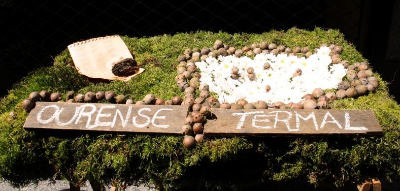 Mayo que representa la termas, reclamo turístico por excelencia de la ciudad de Ourense. Foto: Sara Gordón