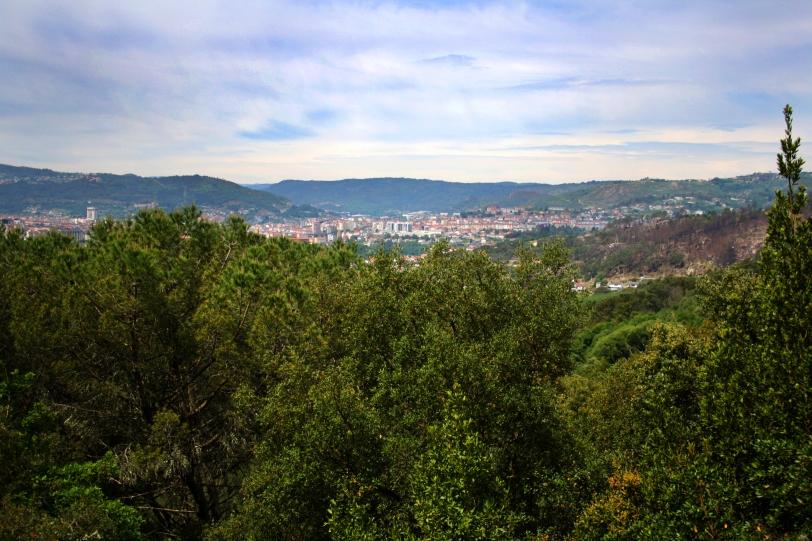 Ourense desde el castro de Santomé. Foto: Sara Gordón