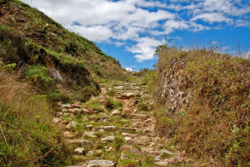 Parte del camino inca desde Chachapoyas a Levanto. Foto: Sara Gordón