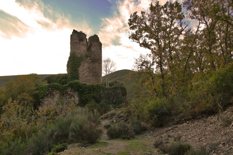 En la actualidad solo queda en pie parte de la torre del homenaje y algún resto de sus muros. Foto: Sara Gordón