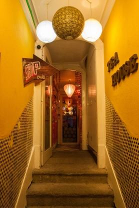 La entrada de la tetería Rota do Cha. Foto: Sara Gordón