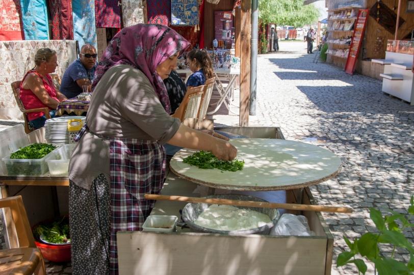 Los gozlemes es una de las comidas más típicas de Turquía. Foto: Sara Gordón