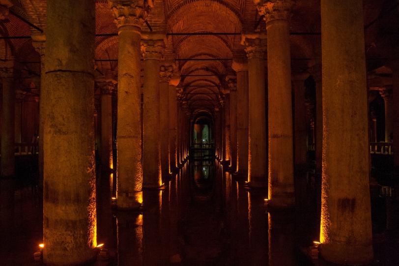 La basílica-cisterna o el palacio sumergido. Foto: Sara Gordón