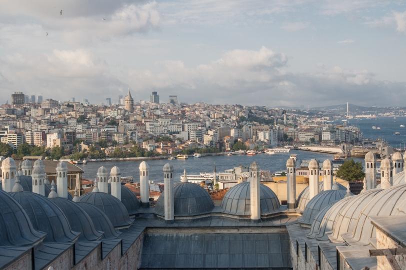 Vistas de la parte Europea desde la mezquita de Solimán. Foto: Sara Gordón