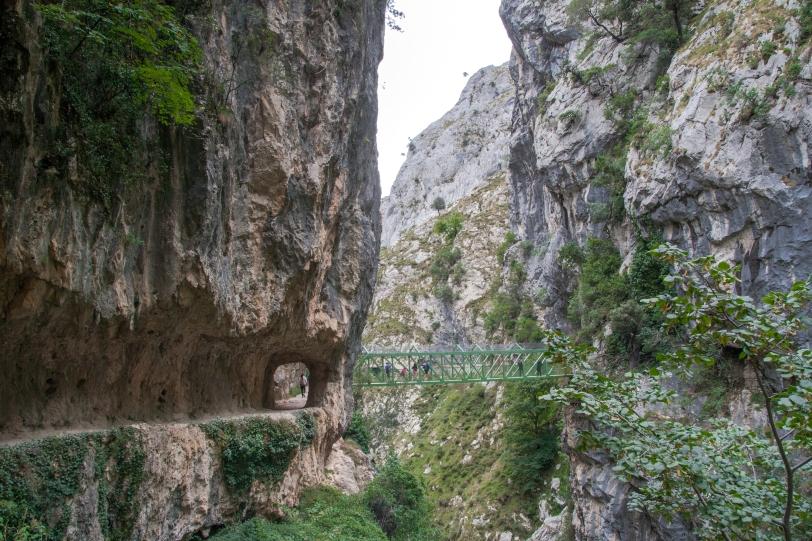 En la ruta nos encontramos con túneles, puentes, cascadas... Foto: Sara Gordón