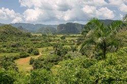 Vistas del valle desde la carretera que llega al pueblo desde La Habana. Foto: Sara Gordón