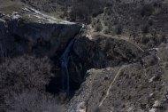Vista de la bajada hacia el fondo del cañón. Foto: Sara Gordón